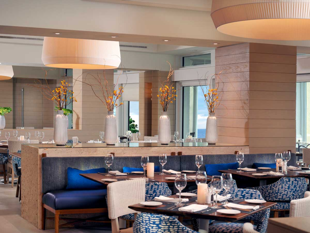 Baleen Restaurant dining area in Naples, FL