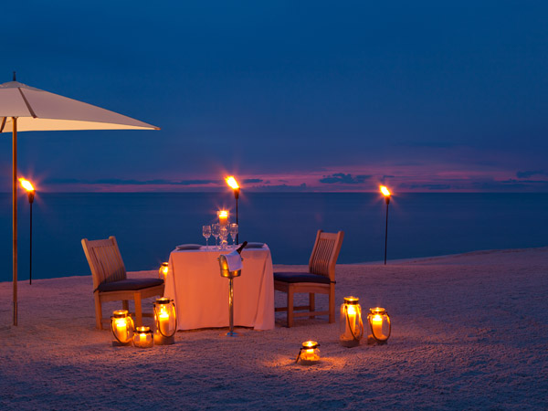 Beach sunset and private dining at La Playa Beach and Golf Resort
