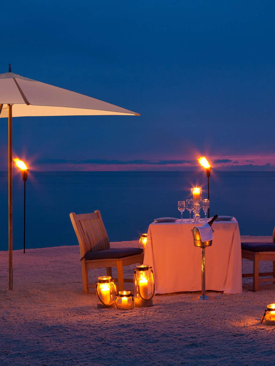 Beach sunset and private dining